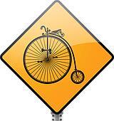 Retro Bicycle Sign