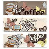 Coffee brochure set for design