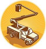 Cherry Picker Bucket Truck Access Equipment Retro