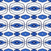 Simple Moroccan pattern in blue