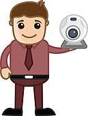 Man Showing Web Cam - Spy Cam