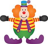 White Clown Clip Art - Royalty Free - GoGraph
