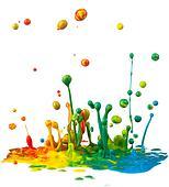 Colorful paint splashing