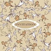 Elegant invitation card with vintage ornament