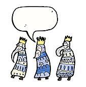 cartoon three kings