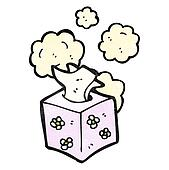 box of tissues cartoon