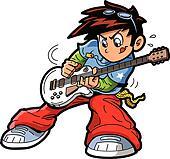 Anime Manga Guitar Player
