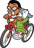 Happy Boy Riding Bike