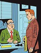 Retro Office Meeting