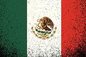 mexico. grunge mexican flag illustration design