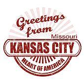 Greetings from Kansas City stamp
