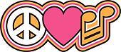 PEACE LOVE MUSIC Symbols