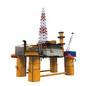 Drilling Offshore Platform Oil Rig