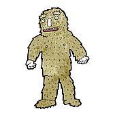 Bigfoot Clip Art - Royalty Free - GoGraph