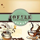 Design of coffee shop or cafe  post