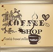 Design of coffee shop poster
