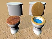 Toilets - 3D render