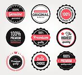 Set of Retro Vintage Badges and Lab
