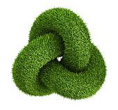 Green grass abstract knot logo