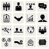 office icons(signs) of people & concepts for business- vector gr