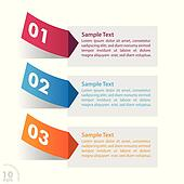 Three Colorful Sticker Infographic