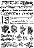 doodles, shapes, line, circle