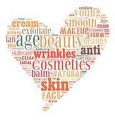 Cosmetics and makeup word cloud