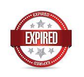 expired seal stamp illustration design