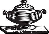 sugar bowl in vintage style