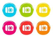 Colorful icons with camera symbol