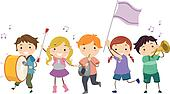Stickman Kids Marching Band