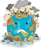 Crying Earth Due to Pollution