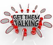 Get Them Talking People Speech Bubbles Sharing Ideas