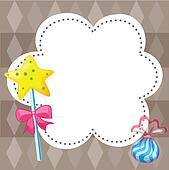 An empty cloud template with candies