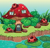 Bugs outside the mushroom house