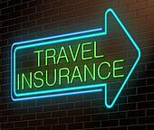 Travel insurance sign.