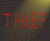 Thief concept.