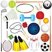 Sports Set: Balls, other exercise