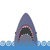 shark in the sea vector illustration