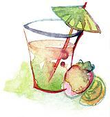 orange ice drink