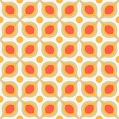 Pattern with bold geometric shapes in 1970s style