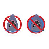 shark in the sea vector illustration part four