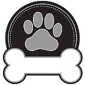 Dog Bone and Paw