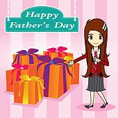 vector father day