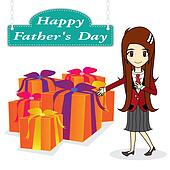 vector father day on white background
