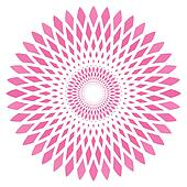 vector abstract pink circle flower