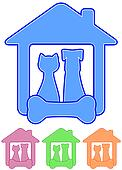 icon with home pet