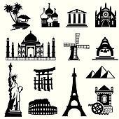 set landmarks icons