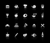 Food Icons - Set 1 -- Silver Series