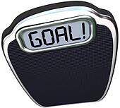 Goal Word Scale Weight Loss Target Lightweight